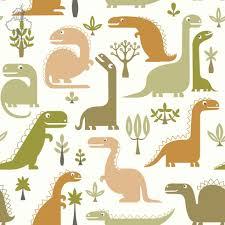 Behangpapier Dino Groen Wallpaper Papier Peint Kinderkamer