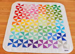 Rainbow Bright Quilt   Modern Handcraft & The Rainbow Bright Quilt is now available in my Etsy shop. This baby sized  quilt features the Bright color line from Kona cottons. Adamdwight.com