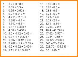 Kindergarten 4 Subtracting Decimals Worksheet | Lvn Resume Decimal ...