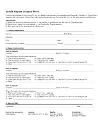 credit report dispute form template l1