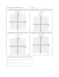 ravishing system of equations graphing worksheet pdf jennarocca solving quadratic by answer key systems worksheets 1