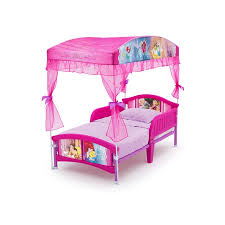 Disney Princess Plastic Toddler Bed with Canopy by Delta Children ...