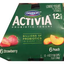 lowfat yogurt strawberry dannon activia