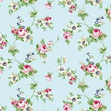 Flower Pattern Wallpaper Classy Antique Rose Sky Blue Flower Pattern Self Adhesive Wallpapers