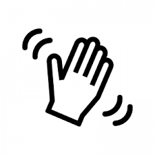 手を振るシルエット 無料のaipng白黒シルエットイラスト