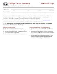 phillips exeter academy student essays