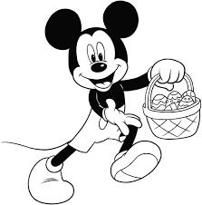 Disegno Di Topolino Con Le Uova Di Pasqua Da Colorare Con Disegni Da