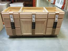 kitchen island out of stock cabinets