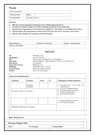 Model Resume Resume Templates