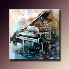 100 hand painted oil paintings on canvas musical instrument abstract piano painting wall art pictures for home decor unframed in painting calligraphy  on grand piano wall art with 100 hand painted oil paintings on canvas musical instrument