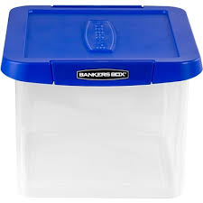 Choose quantum storage for the largest collection of industrial plastic bins and warehouse bin storage systems. Bankers Box Heavy Duty Plastic File Box Letter Legal Size Blue Clear 0086201 Quill Com