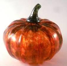 hand blown glass pumpkins pumpkin made and sold by artist gourds