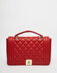 Lyst - Love moschino Quilted Shoulder Bag With Chain Strap In Red ... & Gallery Adamdwight.com