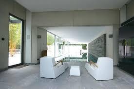 large sliding glass doors interior the white pool house slim frame sliding glass doors minimal windows large sliding glass doors