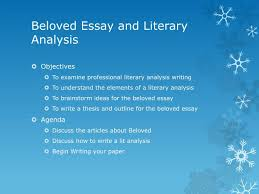 ppt beloved essay and literary analysis powerpoint presentation beloved essay and literary analysis