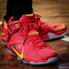 lebron shoes 12 red. nike lebron xii 12 red yellow pe (4) shoes n