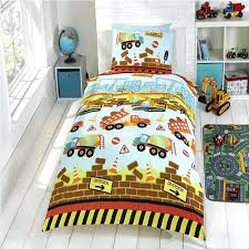 construction bedding set blue brown construction trucks bedding for boys crib toddler twin full duvet comforter