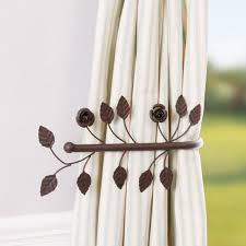 Antique Brown Leaf Curtain Tie Back - home sale