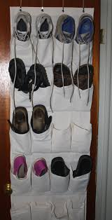 free high resolution photo of shoes in a closet door rack