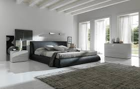 modern king bed
