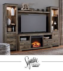 ashley furniture fireplace tv stand. Simple Stand Trinell Entertainment Wall  Fireplace Insert Option TV Stand Living  Room Furniture Ashley For Tv U