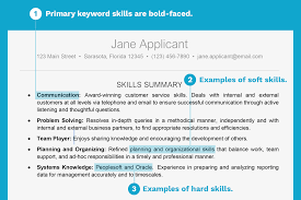 resume example for skills section resume example with a key skills section