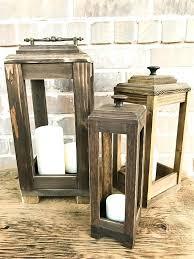 wood lanterns s brown for wedding centerpieces large bulk wood lanterns