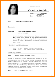 Resume Template Examples Free Resume Templates For Interns Resumes Internships 100 Examples 31