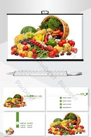 Free Food Powerpoint Templates Green Ecological Agricultural Products Green Food And