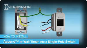 single pole wiring instructions for the ascend in wall timer by single pole wiring instructions for the ascend in wall timer by intermatic