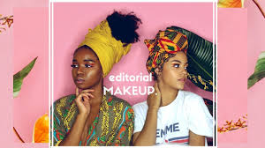 trying editorial makeup looks on 2 diffe skin tones