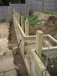 Small Picture sleepers retaining wall Google Search landscaping Pinterest