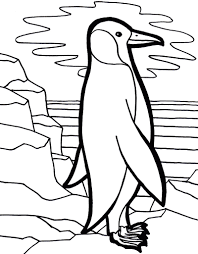 Funny Animal Penguin Coloring Pages - Womanmate.com