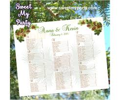 Winter Wedding Seating Chart Ideas Pinecone Wedding Seating Chart 014w