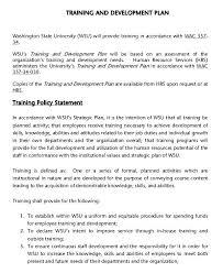 Individual Employee Training Plan Template Project Staff Nz Sample