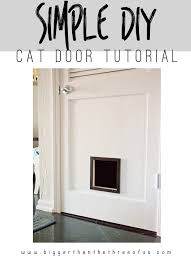 hop over to learn how to make this simple diy cat door get the tutorial