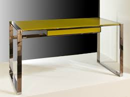 glass and steel writing desk with drawers desk glass writing desk by f lli