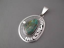 royston turquoise pendant in sterling silver leonard nez