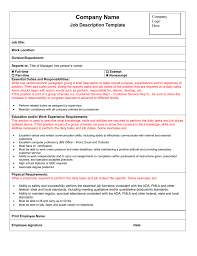 Job Descriptiontes Exampleste Lab Form Pediatrician Sample