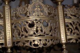antique gothic chandelier wrought iron