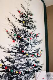 Wall Xmas Decorations Fabric Christmas Tree Pom Pom Garland Tree Wall And Wall Hangings