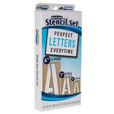 multi size letter stencils hobby