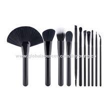 china mac makeup brush portable traveling cosmetic set kabuki multi task synthetic hair wood handle