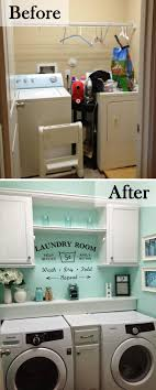 Laundry Room Design On A Budget Cabinets And A Pretty Splash Of Color Laundry Room