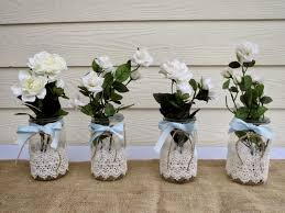 Decorated Jars For Weddings weddings centerpieces for the table diy mason jar wedding 5