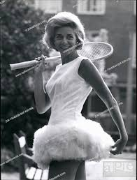 Jun. 06, 1964 - Feathers For lea: 24-year-old Italian star Lea Pericoli who  is noted for her glamour..., Stock Photo, Picture And Rights Managed Image.  Pic. ZUK-19640606-BAF-K09-096