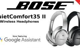 bose google assistant. bose quietcomfort35 ii noise cancelling wireless headphones with google assistant g