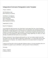 Independent Contractor Resignation Letter Template