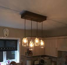 diy kitchen lighting. DIY Kitchen Light Fitting. Scaffolding Board, Kilner Jars Diy Lighting