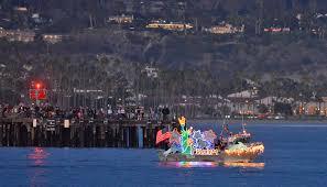 Parade Of Lights Floats Around Santa Barbara Harbor Media